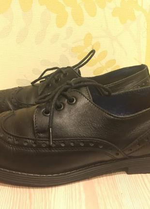Кожаные туфли оксфорды фирмы хамелеон