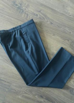 Темно-сірі фірмові прямі класичні брюки (marks&spencer)
