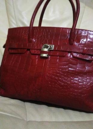 Фирменная сумка marta p. италия. кожа