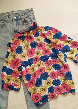 Разноцветная яркая блуза / рубашка / футболка / блуза