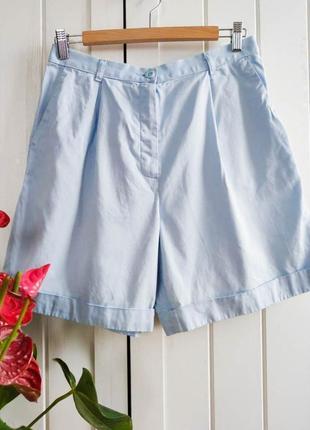 Нежные голубые шорты бермуды от m&s, размер l-xl1 фото