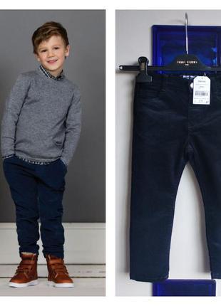 🐶🐹🐮 крутые штаны/брюки демисезон микровельвет стрейч на 3-4 года next 🐶🐹🐮