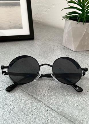 Черные овальные очки солнцезащитные очки круглые унисекс