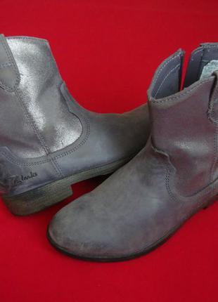 Сапоги clarks silver натур кожа 32-33 размер