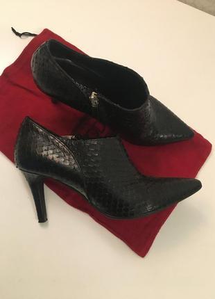 Туфли полуботинки италия змеиная кожа 36-37 размер