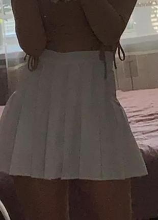 Тенисная юбка , мини юбка  в аниме стиле