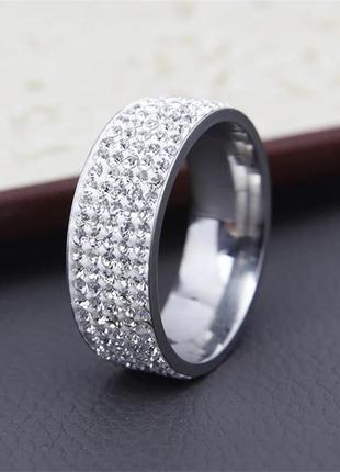 Модное красивое кольцо в стиле ретро с напылением серебра 18 размер