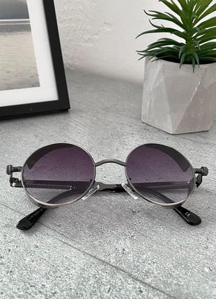 Фиолетовые овальные очки солнцезащитные очки круглые унисекс