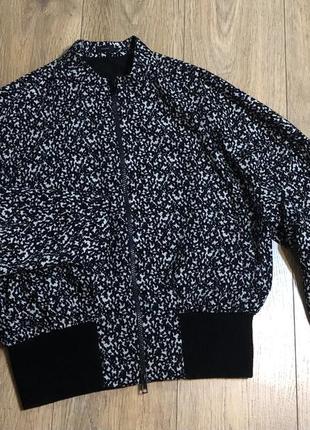 Шелковая  куртка бомбер joseph