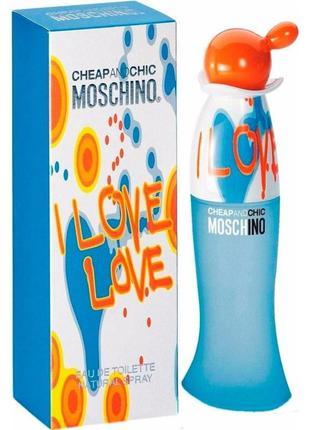 Туалетная вода moschino cheap & chic i love love