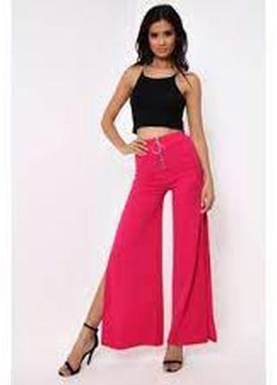 Stylewise  мега стильные красивые брюки палаццо с разрезами по бокам