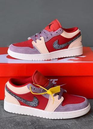 Nike jordan 1  low canyon rust кроссовки найк кросівки жіночі