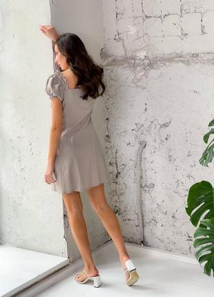 Платье на пуговицах лен2 фото