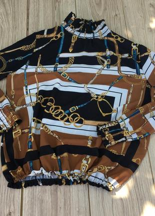 Стильная актуальная блуза блузка h&m zara asos тренд рубашка гольф