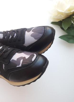 Комбинированные кроссовки  с камуфляжным принтом 😎8 фото