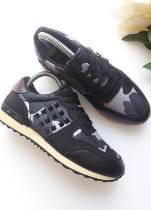 Комбинированные кроссовки  с камуфляжным принтом 😎4 фото