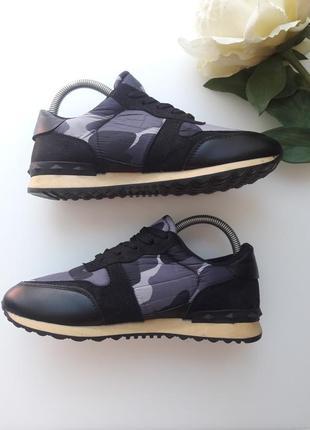 Комбинированные кроссовки  с камуфляжным принтом 😎6 фото