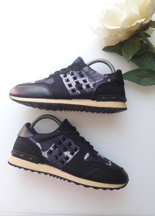 Комбинированные кроссовки  с камуфляжным принтом 😎3 фото