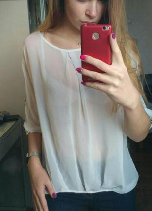 Рубашка блузка белая