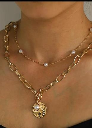 Колье чокер двухъярусное ожерелье vintage stories