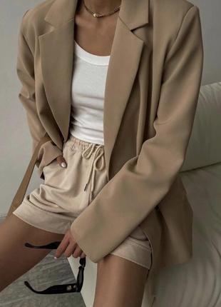 Пиджак oversize,удлиненный пиджак прямого кроя,стильный пиджак,трендовый пиджачок