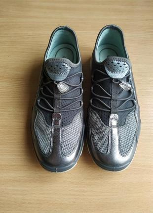 Ecco lynx brand new dark shadow silver leather3 фото