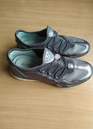 Ecco lynx brand new dark shadow silver leather4 фото