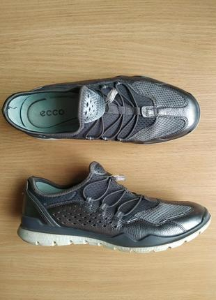 Ecco lynx brand new dark shadow silver leather2 фото