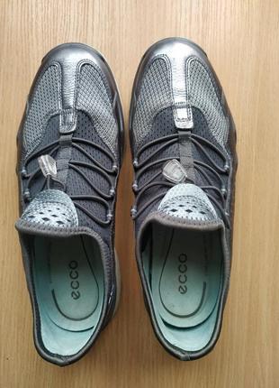 Ecco lynx brand new dark shadow silver leather5 фото
