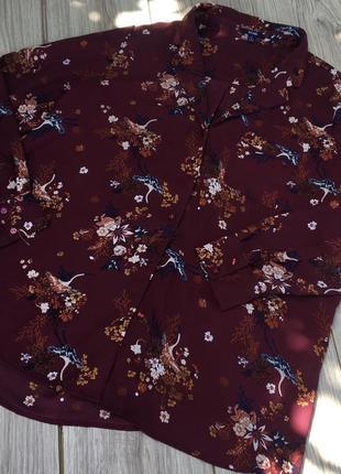 Стильная актуальная блуза блузка h&m zara asos тренд цветочный принт в цветочки лёгкая летняя