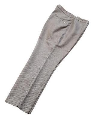 Укороченные брюки в мелкую клетку, талия 78