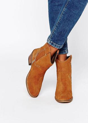 Ботинки кожа 100% glamorous