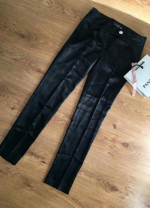 Атласные классические зауженные брюки