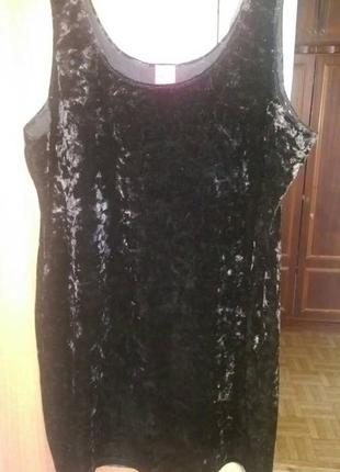 Велюровое платье george 48-50 размера