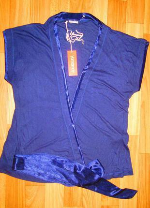 Красивая синяя блуза болеро итальянского бренда yamamay новая оригинал размер l-xl