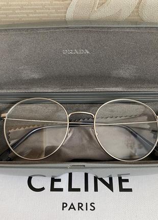 Prada оригинал италия круглые очки оправа