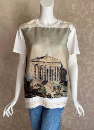Dolce and gabbana оригинал италия белая шелковая футболка