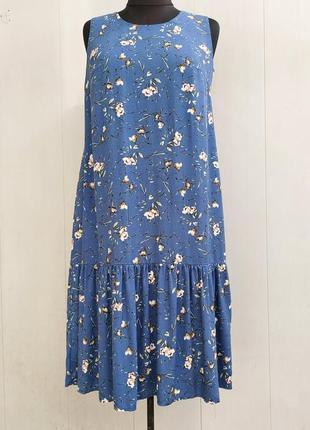 Сарафан,платье, плаття,сукня,цветочный принт, большого размера,вискоза