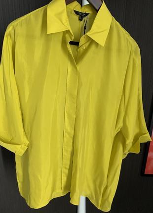 Блуза шёлк massimo dutti яркая нарядная, оригинал