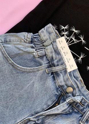 Модные джинсовые шорты с высокой посадкой5 фото