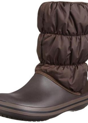 Сапоги crocs winter puff boot р. 35-22, 5см. оригинал