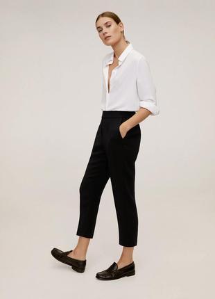 Брюки жіночі чорні прямі, укорочені. прямые укороченные брюки, трендові базові.