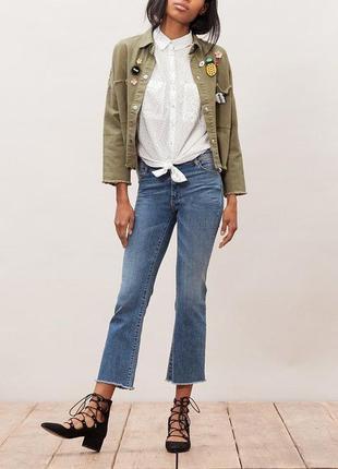 Стильные прямые джинсы-кюлоты