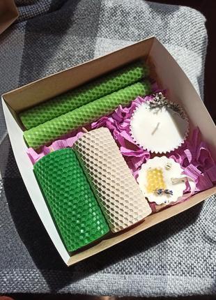 Набор,подарочный бокс ,свечи ручной работы,подарок маме, подруге, hand made