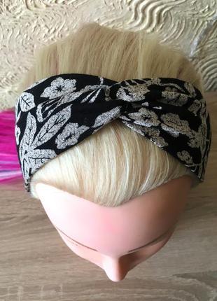Повязка на голову в лепесточки, чалма