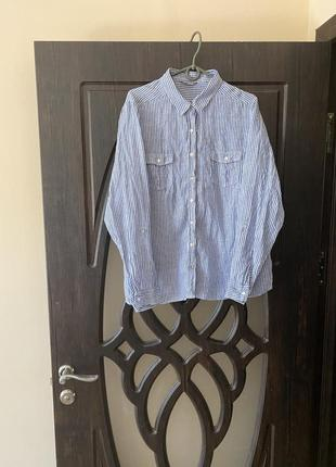 Рубашка материал лен