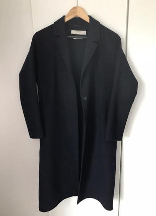 Теплое пальто бойфренд zara