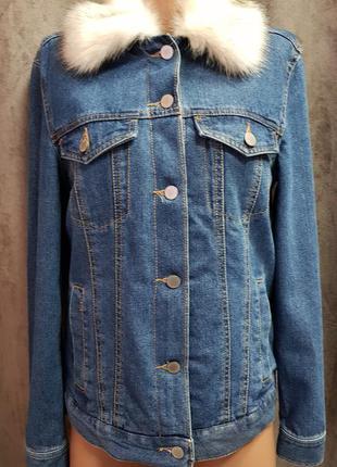 Утепленная джинсовая куртка,теплая джинсовка,джинсовая куртка на утеплителе,зимняя куртка