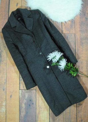 Стильное прямое пальто  9098 esprit размер uk10 (м) серое