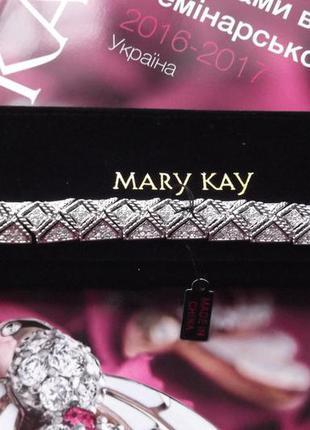 Шикарный браслет с кристалами под серебре в чехле мери кей, mary kay